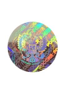 Голограмма Герб РФ 18 мм (Серебро)